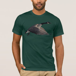 Flying Canada Goose Wildlife T-Shirt