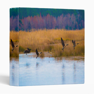 Flying Canadian Geese 3-ring binder