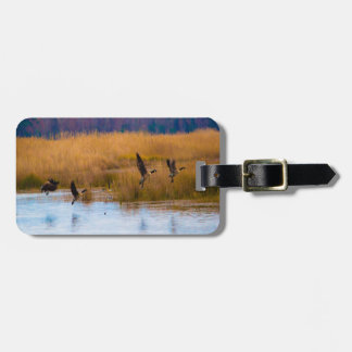 Flying Canadian Geese Bag Tag