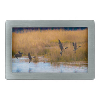 Flying Canadian Geese Belt Buckle