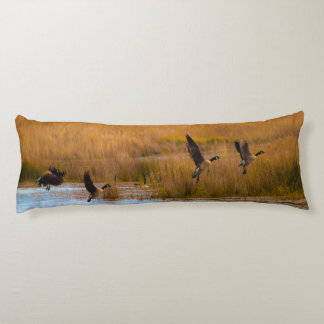 Flying Canadian Geese Body Pillow