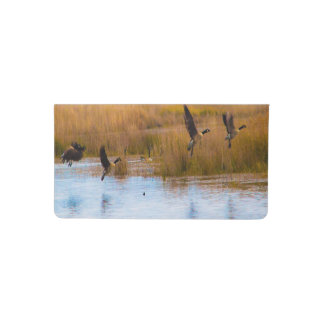 Flying Canadian Geese Checkbook Cover