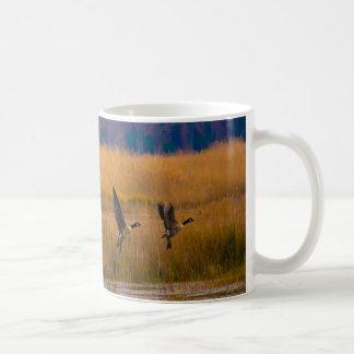 Flying Canadian Geese Coffee Mug