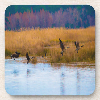 Flying Canadian Geese Drink Coaster