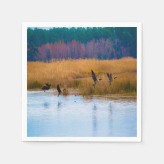 Flying Canadian Geese Napkins