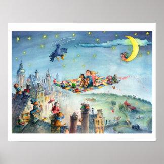Flying Carpet Childrens poster