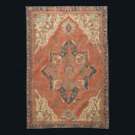 "Flying Carpet Ride Kitchen Towel<br><div class=""desc"">Rub your lamp and make a wish! This Flying Carpet Ride kitchen towel features the image of a classic, antique Persian rug from the late 19th century. The colors, in shades of red, green, blue and ivory, will look lovely with any decor. It&#39;s like owning a valuable vintage textile that...</div>"