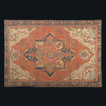"""Flying Carpet Ride Placemat<br><div class=""""desc"""">Rub your lamp and make a wish! This Flying Carpet Ride placemat features the image of a classic, antique Persian rug from the late 19th century. The colors, in shades of red, green, blue and ivory, will look lovely with any decor. It&#39;s like owning a valuable vintage textile that doesn&#39;t...</div>"""