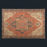 "Flying Carpet Ride Placemat<br><div class=""desc"">Rub your lamp and make a wish! This Flying Carpet Ride placemat features the image of a classic, antique Persian rug from the late 19th century. The colors, in shades of red, green, blue and ivory, will look lovely with any decor. It&#39;s like owning a valuable vintage textile that doesn&#39;t...</div>"
