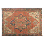 Flying Carpet Ride Placemat<br><div class='desc'>Rub your lamp and make a wish! This Flying Carpet Ride placemat features the image of a classic, antique Persian rug from the late 19th century. The colors, in shades of red, green, blue and ivory, will look lovely with any decor. It&#39;s like owning a valuable vintage textile that doesn&#39;t...</div>