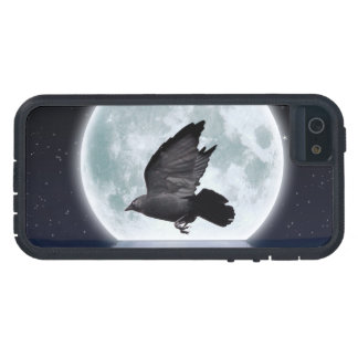 Flying Carrion Crow & Moon Case For iPhone SE/5/5s