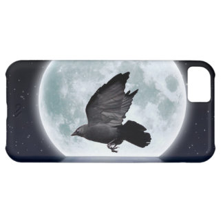 Flying Carrion Crow & Moon iPhone 5C Cover