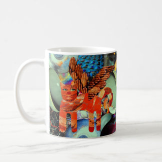 Flying Cat Coffee Mug