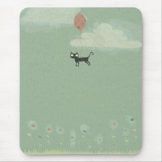 Flying Cat Mouse Pad