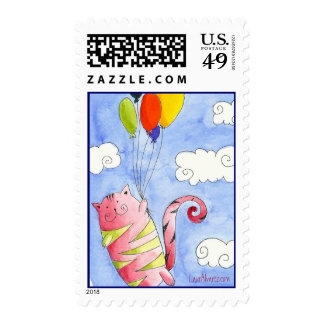 Flying Cat Postage