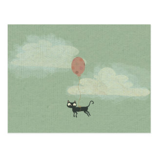 Flying Cat Postcard