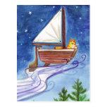 Flying Catboat #1 Postcard