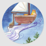 Flying Catboat #1 Stickers