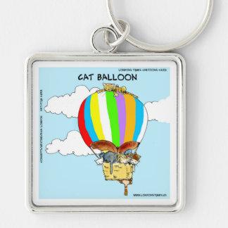 Flying Cats Funny Cartoon Keychain
