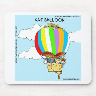 Flying Cats Funny Cartoon Mouse Pad