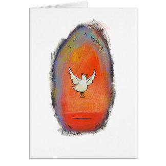 Flying Chicken - Inspirational fun art CUSTOMIZED Card