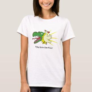 Flying Chicken Slam Attack! T-Shirt