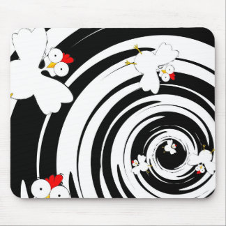 Flying chickens mouse pad