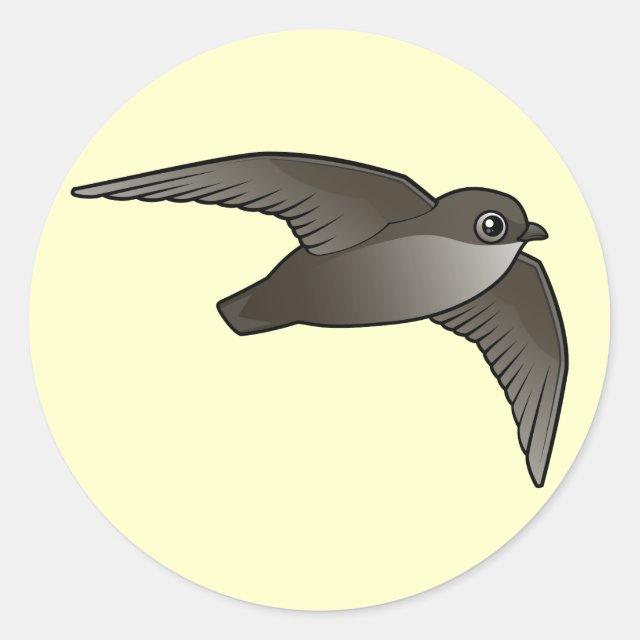 Flying Chimney Swift Round Sticker