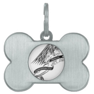 Flying Chiropractic Angel Pet ID Tag