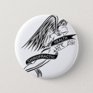 Flying Chiropractic Angel Pinback Button