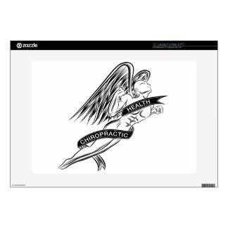 """Flying Chiropractic Angel Decals For 15"""" Laptops"""