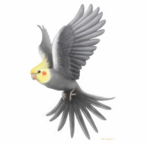 Flying Cockatiel Holiday Ornament
