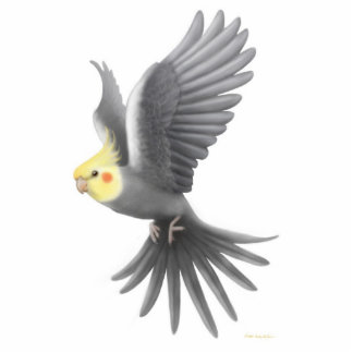 Flying Cockatiel Holiday Ornament Photo Sculpture Ornament