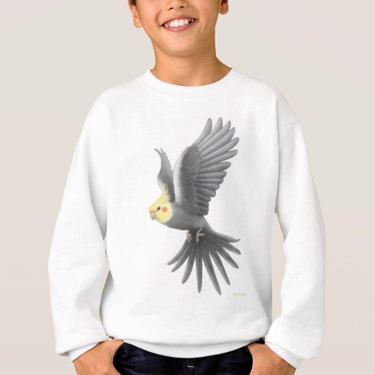 Flying Cockatiel Kids Sweatshirt