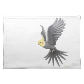 Flying Cockatiel Parrot Placemat