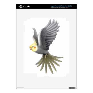 Flying Cockatiel Parrot Zazzle Skin Decal For iPad 3
