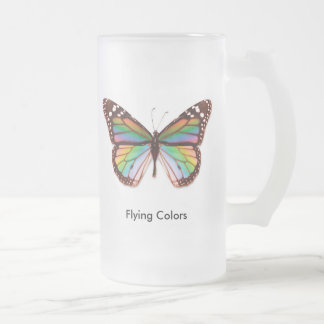 Flying Colors Frosted Glass Beer Mug
