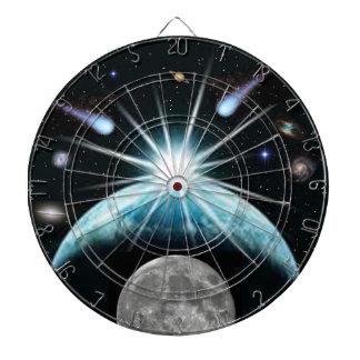 """""""Flying Comets"""" Dart Board w/ Double 20 Saturn"""