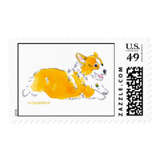Flying Corgi Stamp