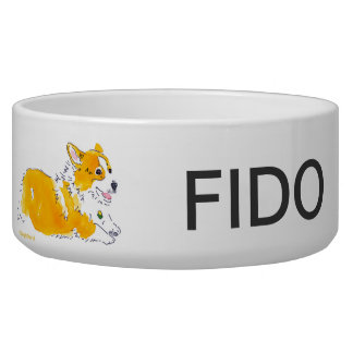 Flying Corgis Dog Bowl