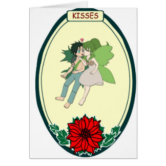 Flying couple, Kisses Card