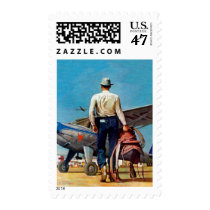 Flying Cowboy by Mead Schaeffer Postage