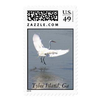 Flying Crane1A, Tybee Island, Ga Stamps