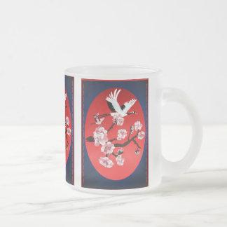 Flying Crane and Sun(dark berry background)Mug