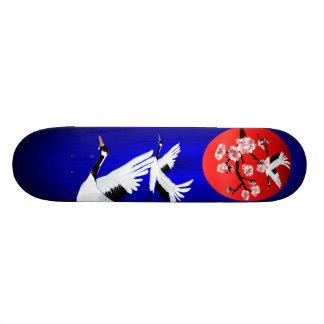 Flying Crane and SunSkateboard Skateboard Deck