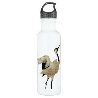 Flying crane stainless steel water bottle