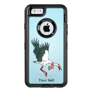 Flying Crane Wearing A Scarf OtterBox Defender iPhone Case