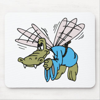 Flying Crocodile Mouse Pad