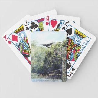 Flying Crow, Black Bear & Totem Pole Haida Art Bicycle Playing Cards
