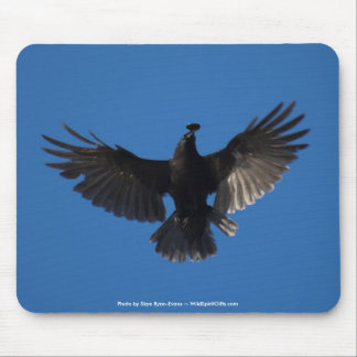 FLYING CROW & COIN MOUSE PAD